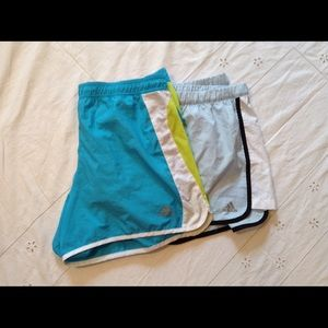 Adidas LOT of 2 shorts with inner brief